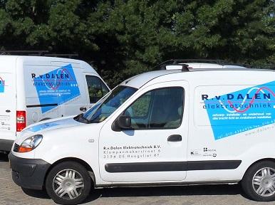 bedrijfsbusjes elektricien Rotterdam